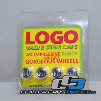 Honda Logo Black Non-Locking Valve Stem Covers 4 Valve Stems