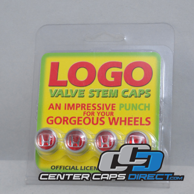 Honda Logo Red Non-Locking Valve Stem Covers 4 Valve Stems