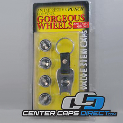 Hummer H3 Logo Locking Valve Stem Covers includes 4 locking valve stems and 1 key