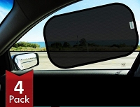 20 inch by 12 inch Car Sun Shade 2 Transparent and 2 Semi-Transparent Sunshades