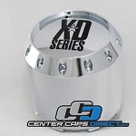 Replacement for BC-671H 905K131 1000786 KMC XD Series Extra Tall KMC Wheels Center Cap [manufacturer] chrome center cap