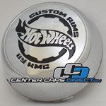 906K80 Replacement Hot Wheels by KMC Center Cap (Not an original Hot Wheels Cap HAS DIFFERENT LOGO Will fit if your part number is 906K80-See picture for LOGO) [manufacturer] chrome-HAS DIFFERENT LOGO-See picture for LOGO center cap