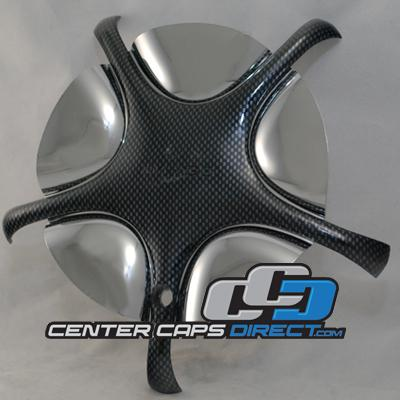 2 piece cap with black inserts 7280-0 Image Wheels Center Caps