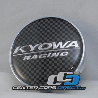 E030 KR518, 566, 627 Carbon logo Kyowa Wheels Center Caps
