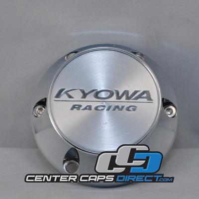 KR206 17-18 Screw on Traditional Logo Kyowa Wheels Center Caps