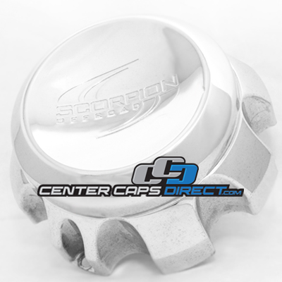 2 piece center cap outside part #: 178-B LORBH-DOWN CAP and inside part #: 178-BL-CAP LG0412-32 Scorpion Offroad Wheels Center Cap Display Model