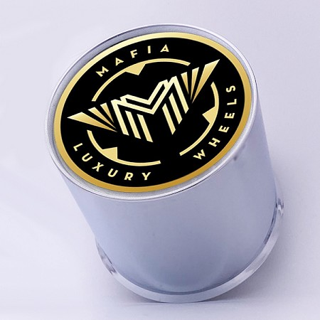 Set of 4 Stationary Logo Mafia Luxury Wheels Universal Center Caps Does Not Cover Lug Nuts